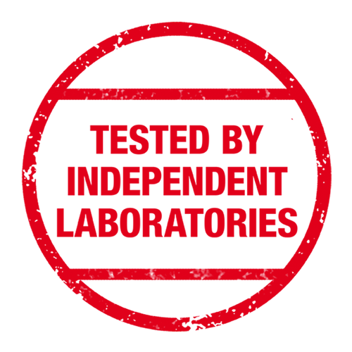 Tested by independent laboratories